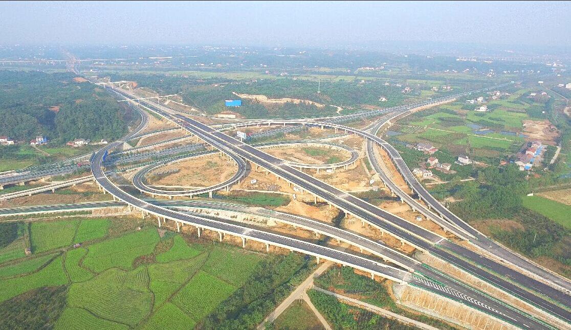 宜张高速公路俯瞰-宜张高速纪实 坎坷成大道 荆楚贯湘西