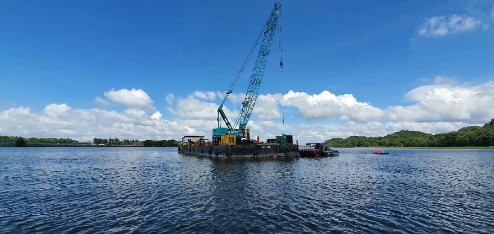 中国能建山西院总承包建设新加坡腾格水库60兆瓦水上光伏项目全面开工